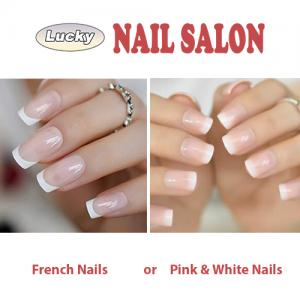 Difference between French manicure and Pink & white nails | Nail salon 62704